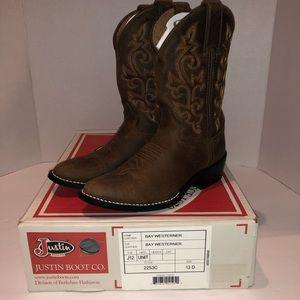 Justin Boots Bay Westerner 2253C Size 13